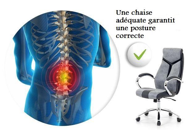 Une Bonne Posture Est La Base Dune Sante Comment Choisir Chaise De Bureau Adaptee